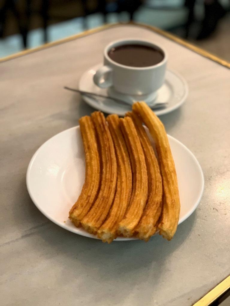 Madrid food - churros at Chocolatería San Ginés