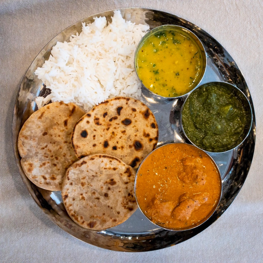 non veg thali main for the indian supper club