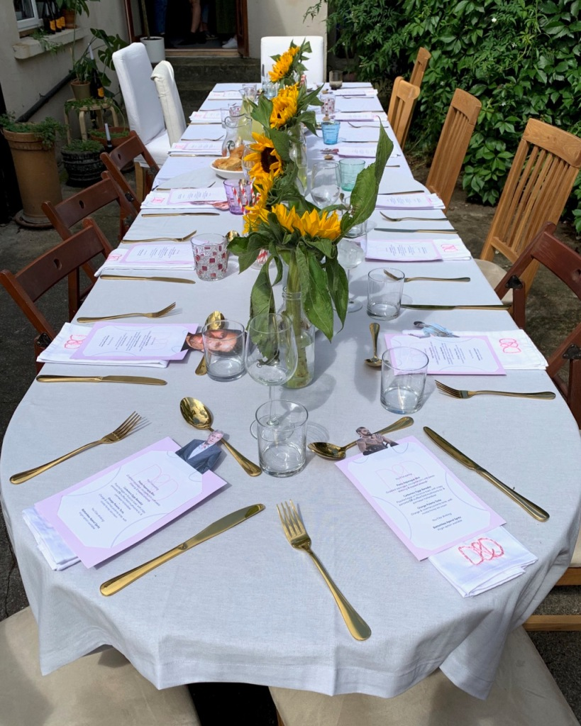 table setting - close up view- of brunch supper club