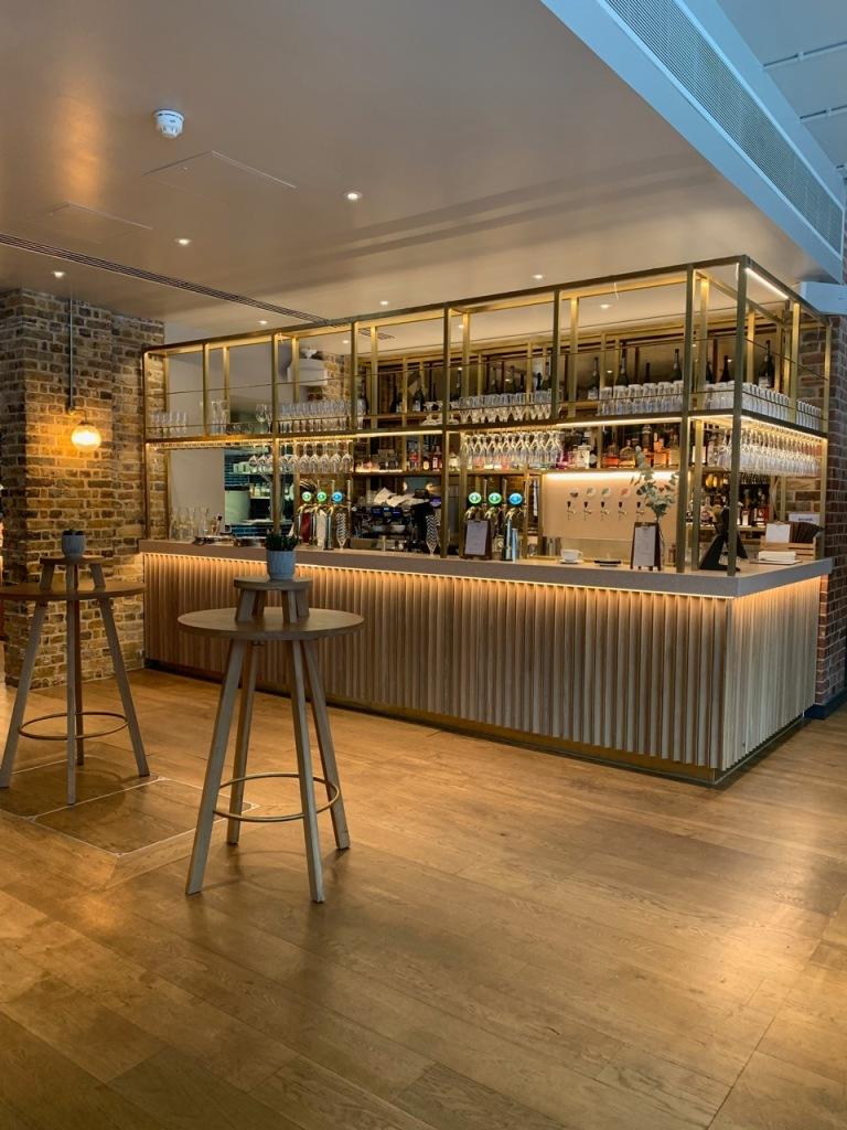 the main bar of the social enterprise restaurant
