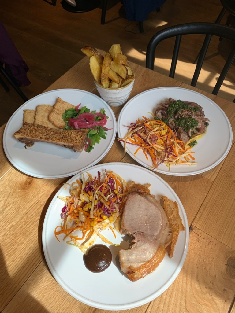 the selection of dishes for Sunday Grill at the social enterprise and restaurant