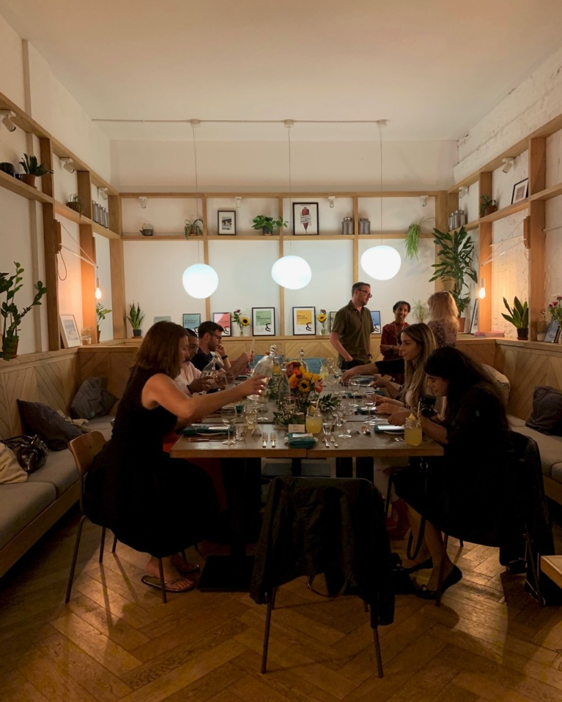 Guests seated for the Sri Lankan Supper Club