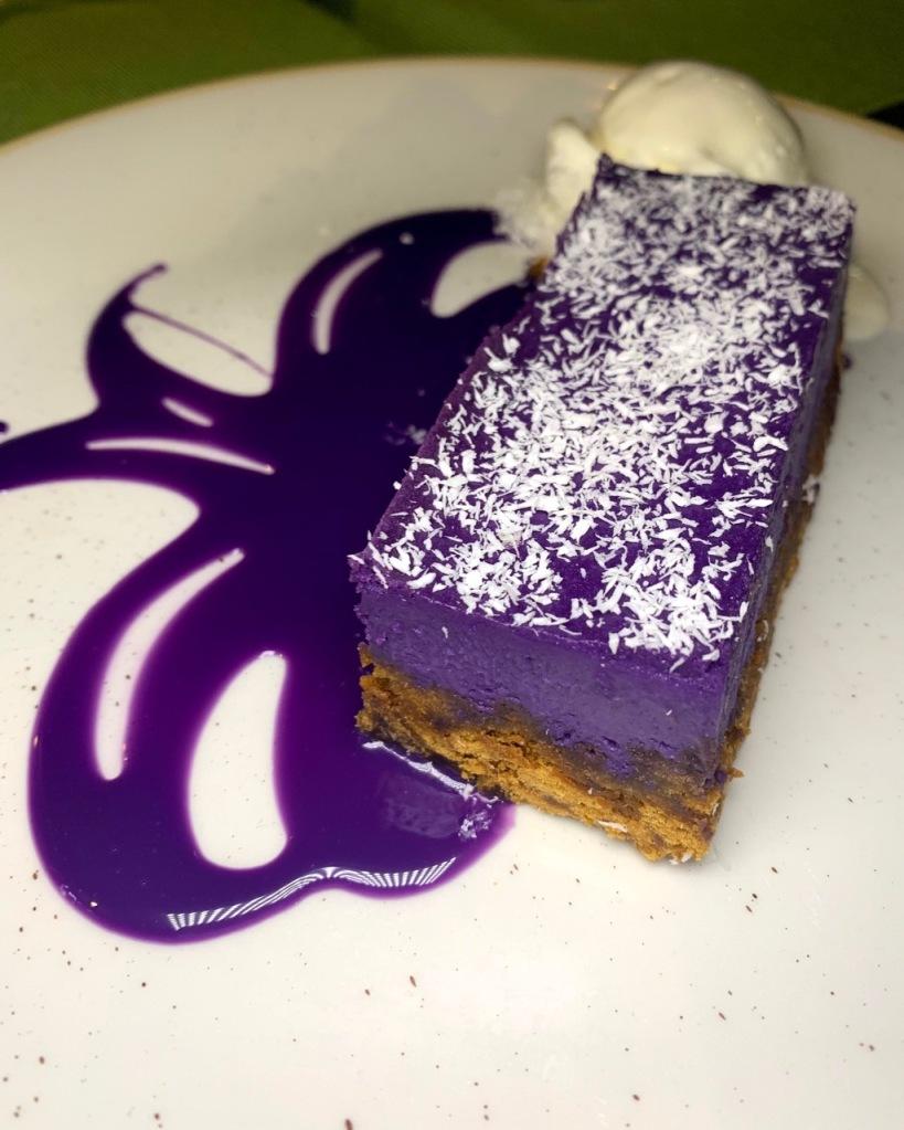 Filipino dessert - ube cheesecake