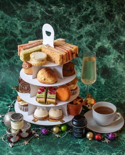 Afternoon tea showing all the components