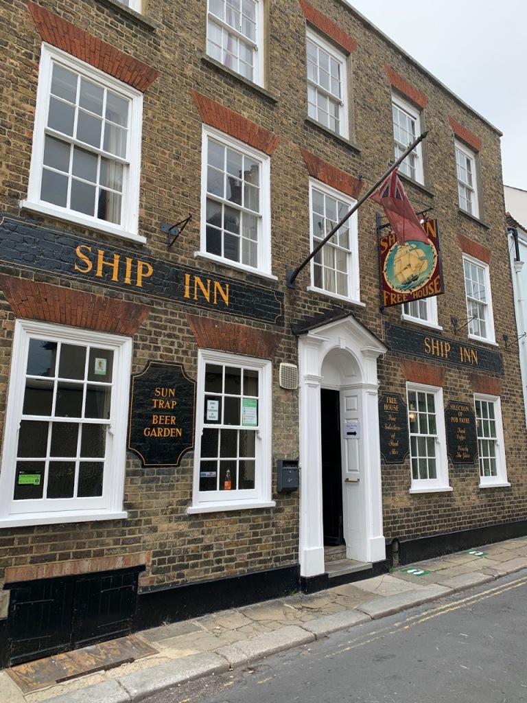 Front facade of The Ship Inn