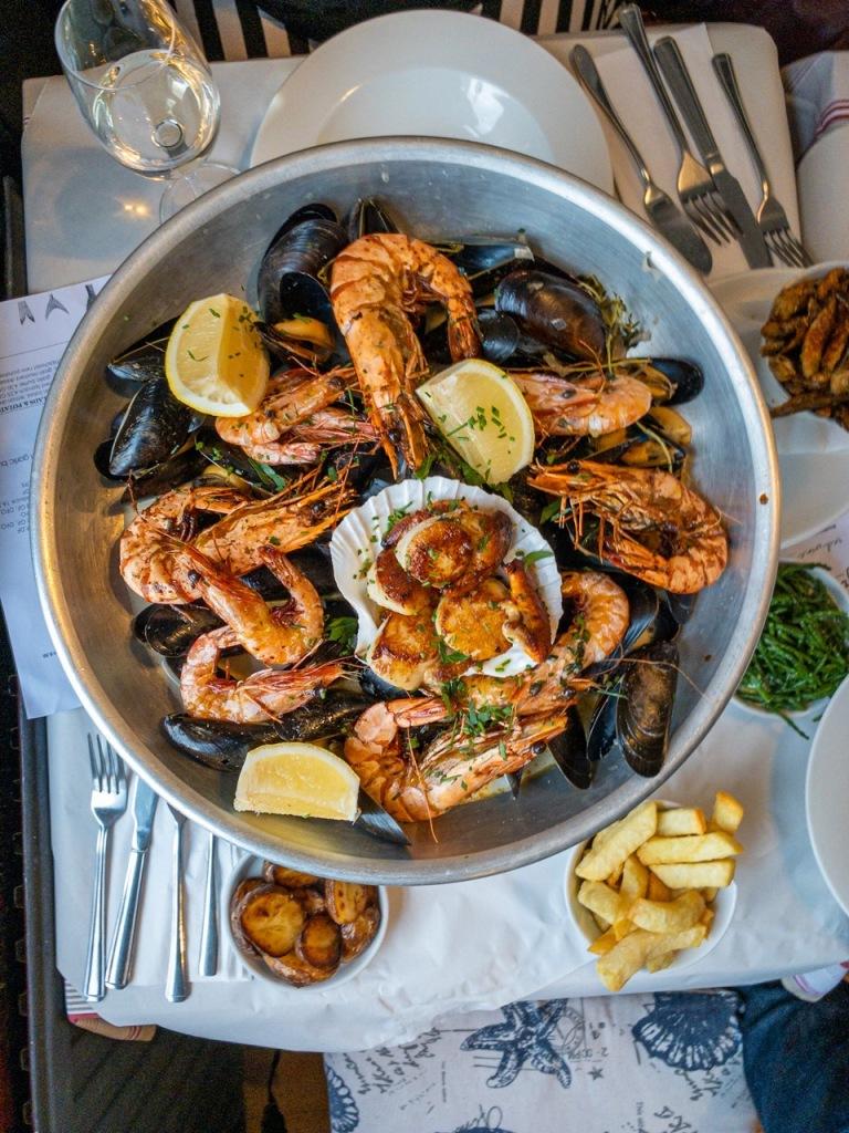 shellfish and seafood platter